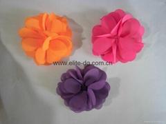 手工布花,链条鞋花,服装饰花,手袋花,腰带花加工