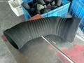 定做異型硅膠橡膠排風管 4