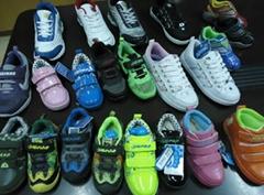 Children sports shoes, stock shoes, cheap shoes