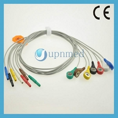 Holter ECG 7 lead  wires set, Din2.0