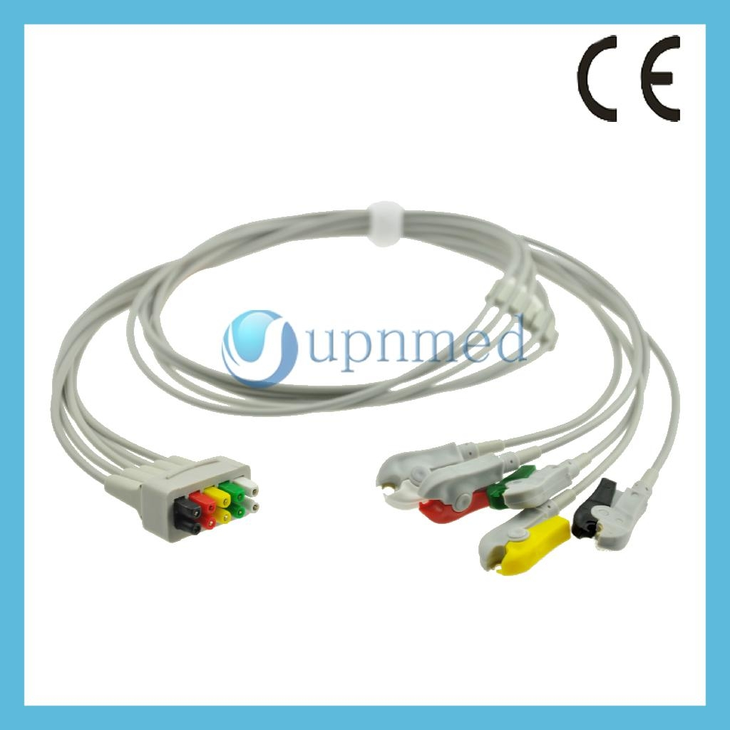 GE 5 lead ECG lead wires set - China - Manufacturer - ECG leads - ECG