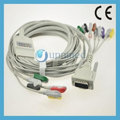 Schiller  EKG Cable with 12 -leadwires, clip