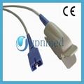 Nellcor Oximax DS-100A adult finger clip spo2 sensor, 9pins