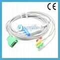 Nihon Kohden  OPV-1500 3lead ecg cable,