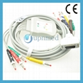 Fukuda Denshi one-piece 10-Lead EKG cable with leadwires  1