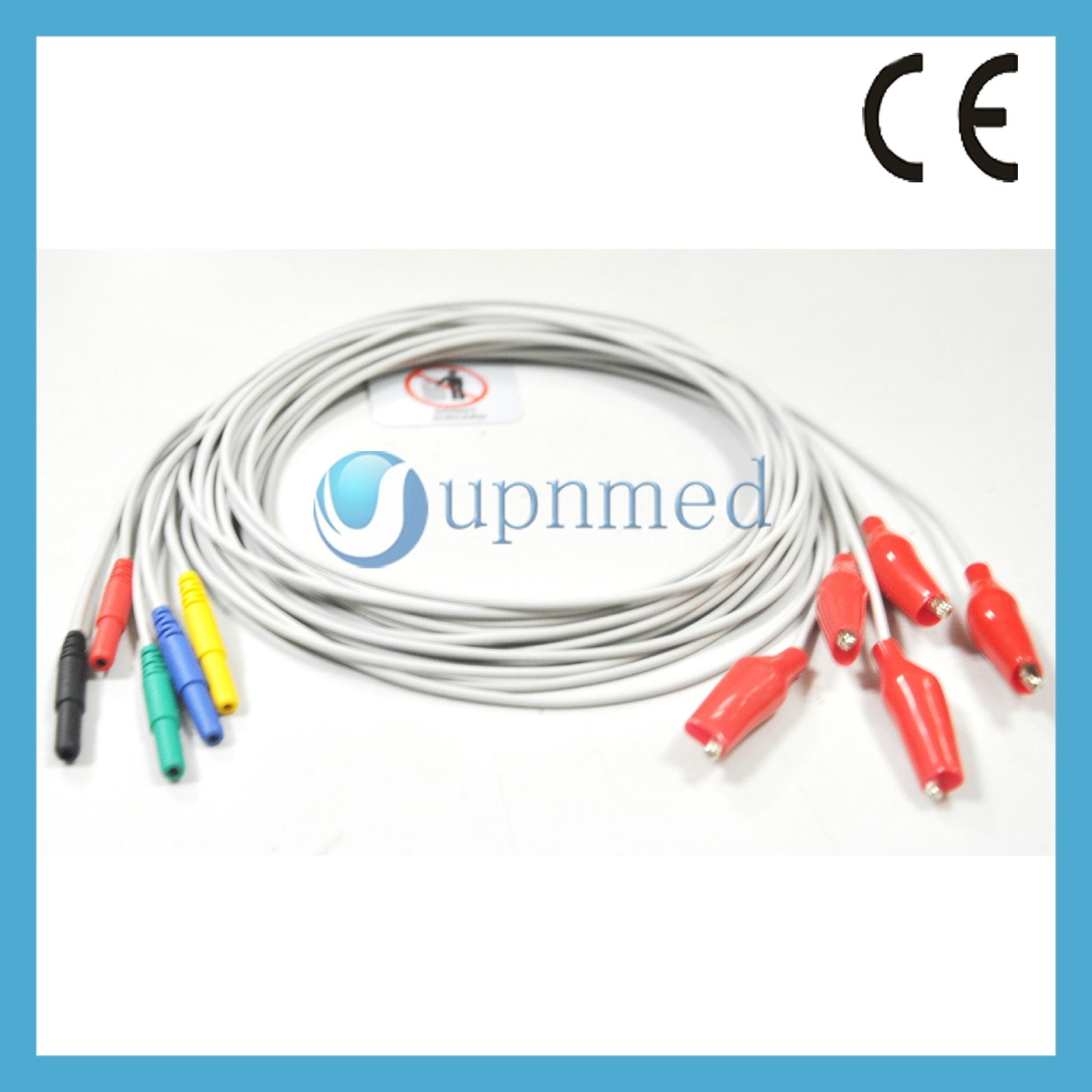Tooth type clip EEG electrodes cord