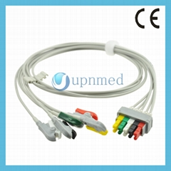 545316 Datex Ohmeda ECG 5 lead set,wires, clip,IEC
