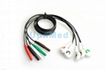 ECG Holter 5 lead  wires set ,Din1.5