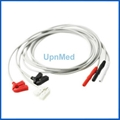 Din Holter neonate ECG 3 lead wires,clip