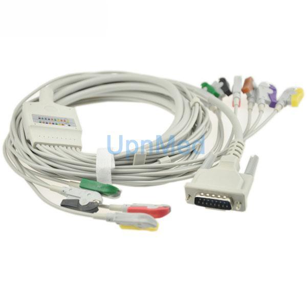 Cardiette 10 lead patient ekg cable with lead wires