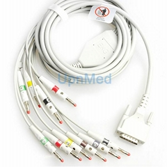 Edan SE-3/SE-601B 10 lead ekg cable wth lead wires, 15pins  (Hot Product - 1*)