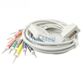 Burdick EK-10 one piece EKG cable with leadwires