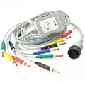 KENZ PC-104 one-piece 10 Lead  EKG cable with leadwires
