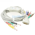 Nihon Kohden 10-lead EKG cable with leadwires