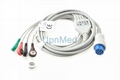 Datex Cardiocap 5 lead ECG Cable with leadwires, 10pins
