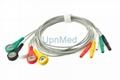 DIN 3 lead 5 lead ECG lead wire
