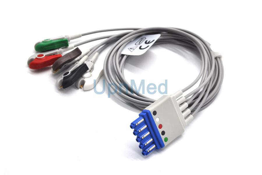 M1968A M1971A Philips 5 lead ecg cables