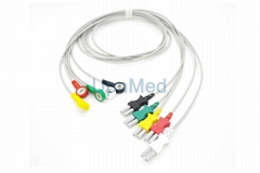 700-0007-00 Spacelabs ECG 3 lead 5 lead wire set
