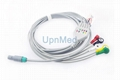 Life point 5 lead ECG cable with lead