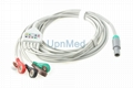 Life point 5 lead ECG cable with lead wires
