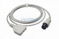 Din 3 Lead ECG trunk cable