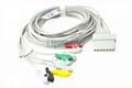 Schiller Lux 5 lead ECG Cable with leadwires