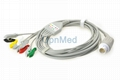 M1986A Philips ECG cable with lead wires, 12 pin