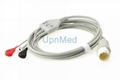 Philips ECG cable with lead wires 8 pins