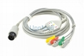 Physio Control lifepak 9b Patient ECG Cable with leadwires