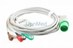 Nihon Kohden defibrillator TEC-5200A ECG cable with lead wires,11 pins