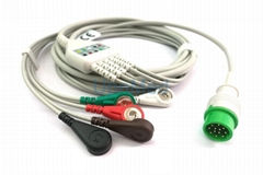 Infinium  3-lead ECG Cable with leadwires, 12pins