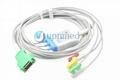 Nihon Kohden OPV-1500 3-lead ECG cable,