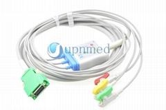 Nihon Kohden OPV-1500 3-lead ECG cable, 20 pins