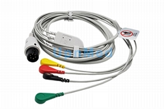 IVY 4 lead ECG cable with leadwires,6pin