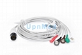 GE Pro1000 5-lead ECG Cable with