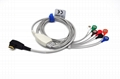 Holter OEM One piece 7-lead ECG Cable with leadwires