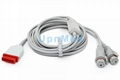 GE BD Dual IBP adapter cable