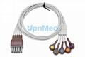 OEM Mindray EL6803B ECG Trunk Cable & 12 Lead, Chest, AHA, Snap 0010-30-42908