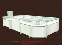 Famous jewellery display kiosk showcase with LED light