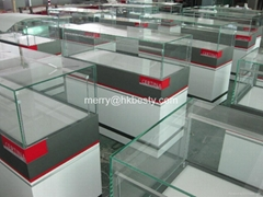 Famous watch brand jewelry display counter showcase with LED lights