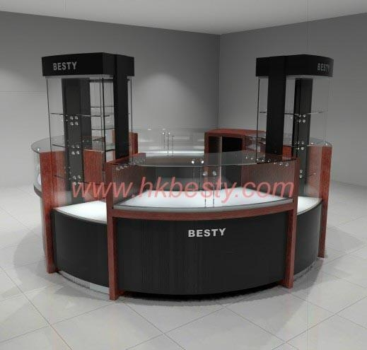 Jewelry Crystal Counter Display With Led Lighting System