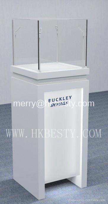 白色高光珠寶展示櫃 1