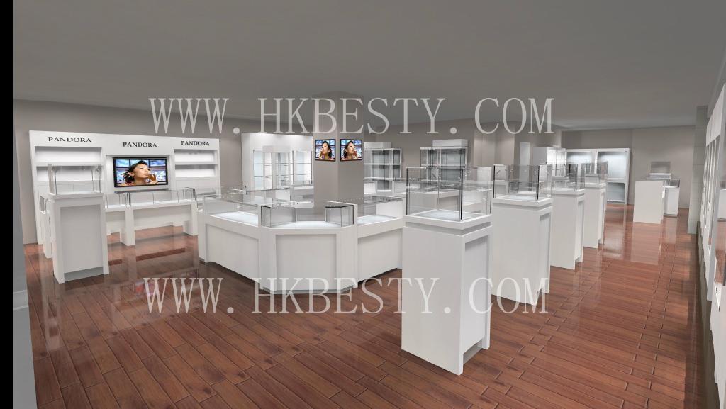 內置LED燈的珠寶展示櫃 3