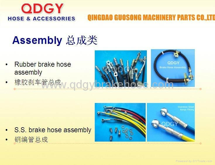 stainless steel wire braided brake line - GSG - QDGY (China ...