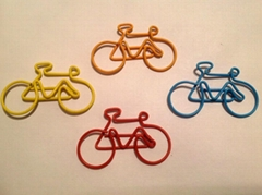 Fancy bicycle shaped paper clips