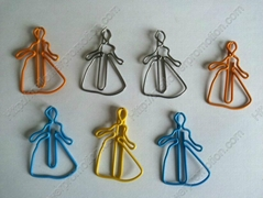 Unique Cinderella shaped paper clips