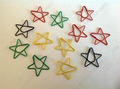 Fancy star shaped paper clips
