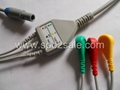 Biosys 3-lead one piece snap ECG  Cable