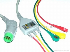 Compatible KONTRON patient cable with leadwires