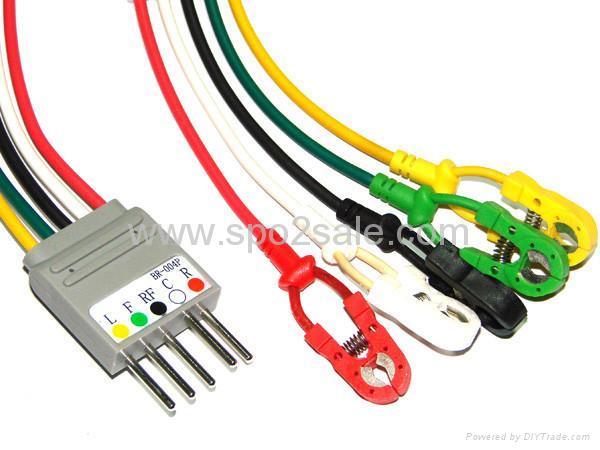 Compatible Nihon Kohden BR-004P 5-LD wires 1